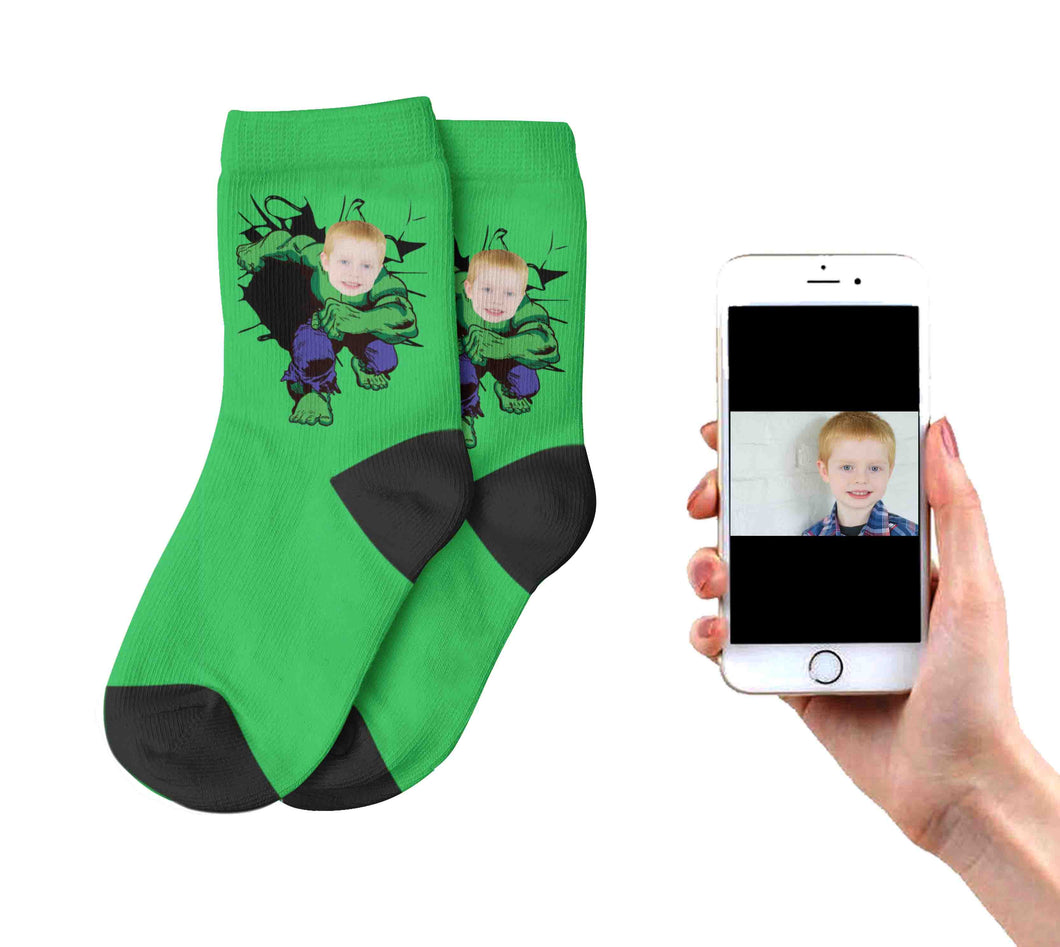 Kids Hulk Socks
