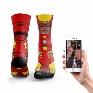 Personalised Iron Man Socks