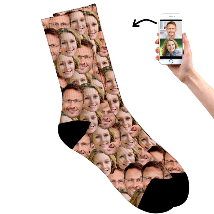 Dad & Mum's Face On Socks