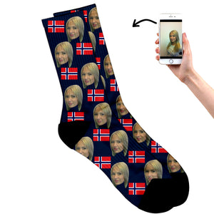 Norway Face Socks
