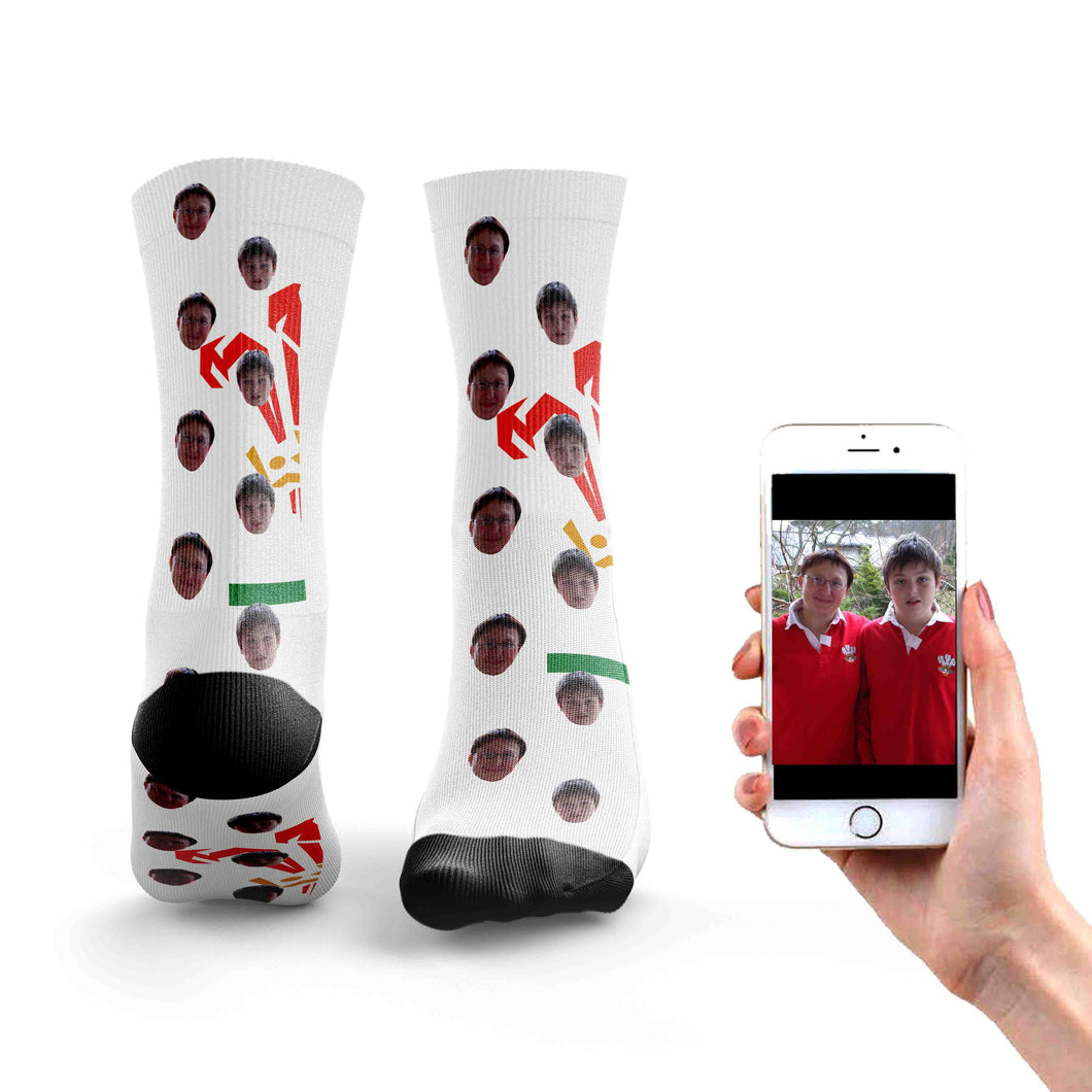 Personalised Wales Rugby Socks