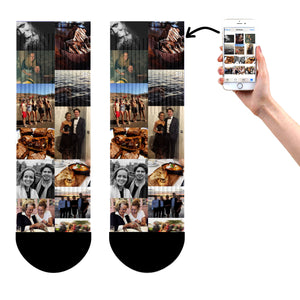 Photo Collage Socks