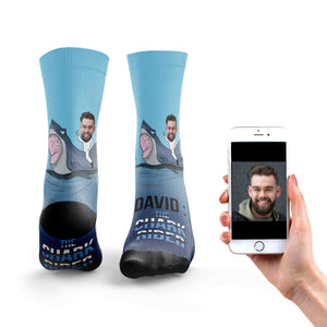 The Shark Rider Socks