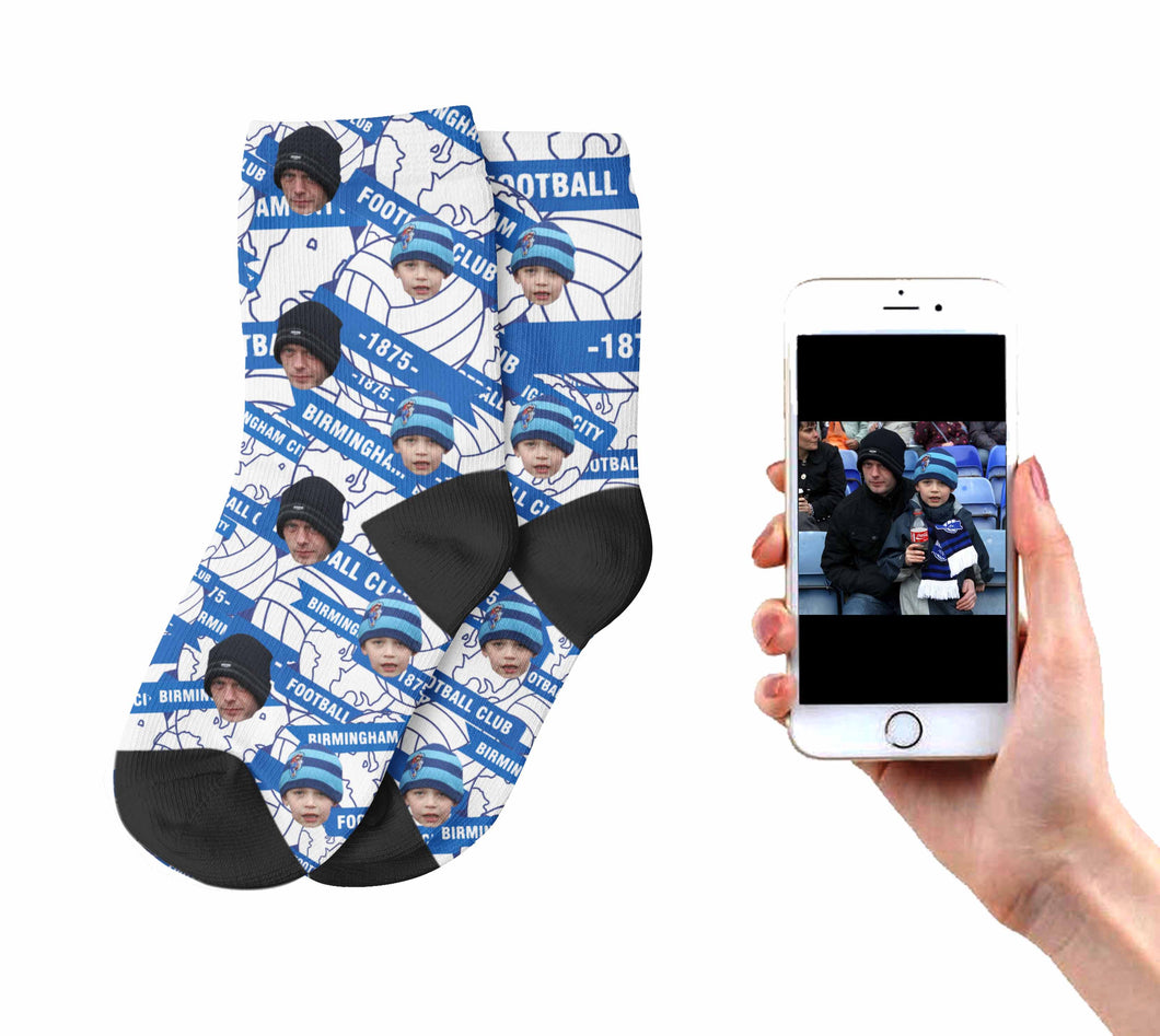Kids Customised Blues Socks