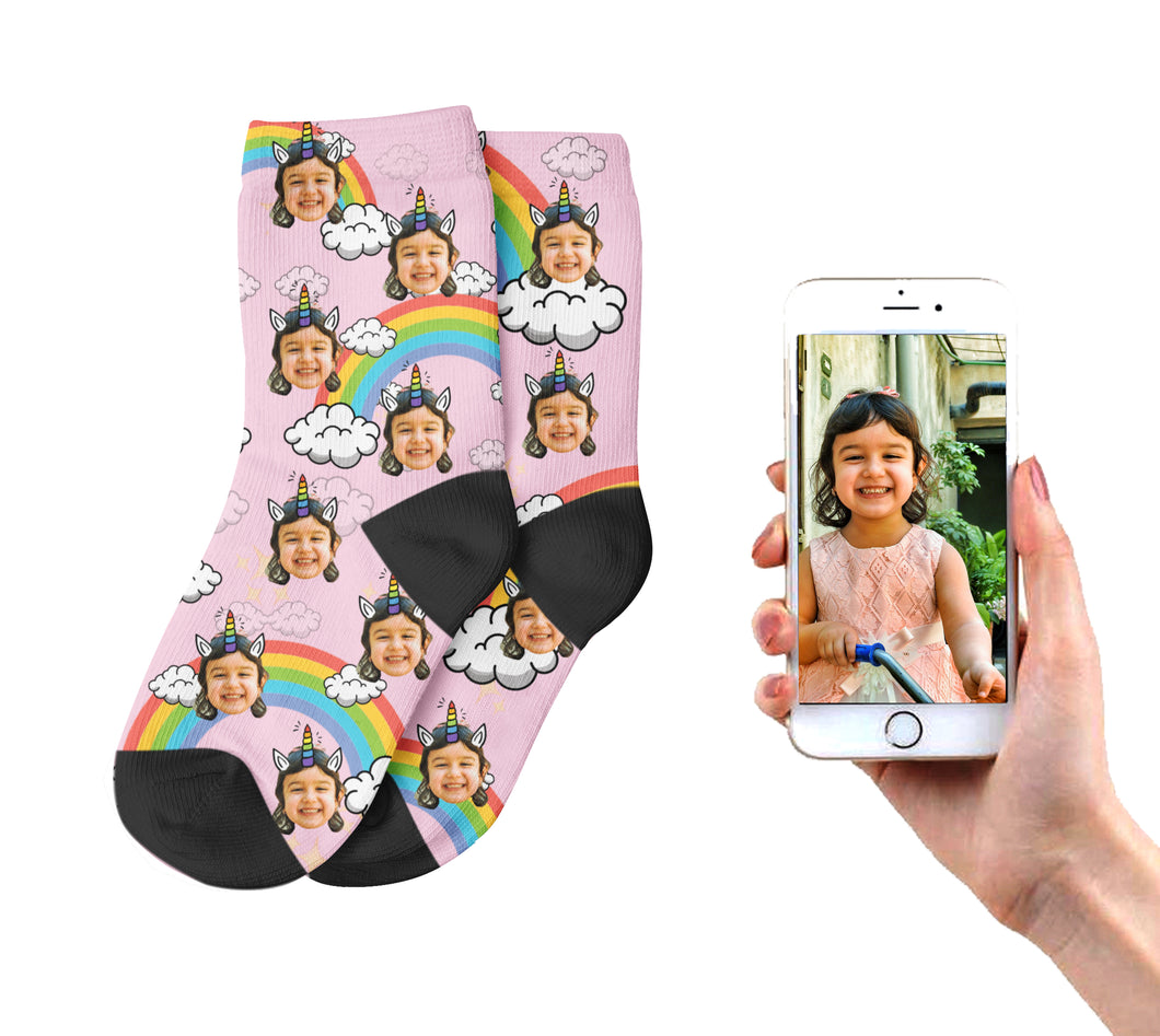 Pink Unicorn Kids Socks