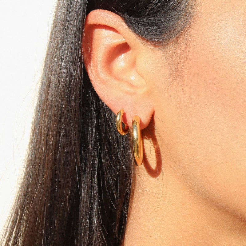 Gold Tube Hoops