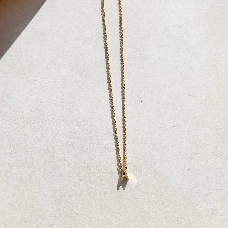 Letter Necklace - A