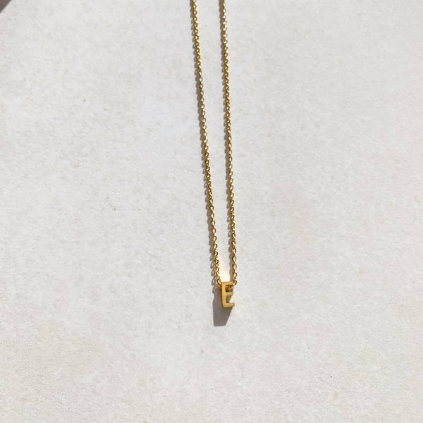 Letter Necklace - E