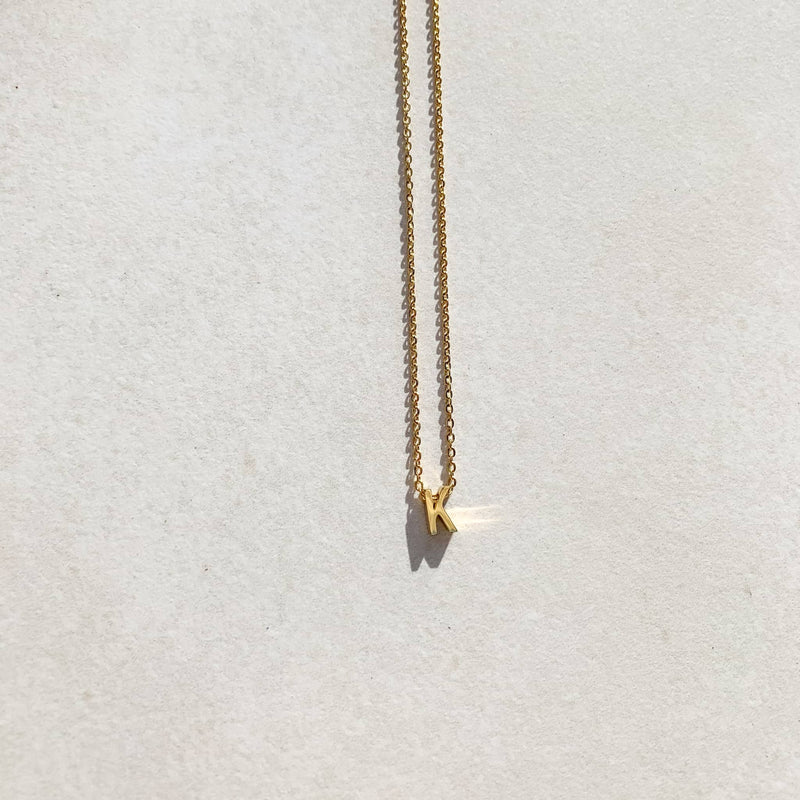Letter Necklace - K
