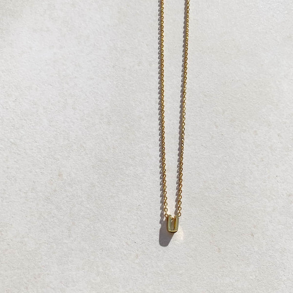 Letter Necklace - U