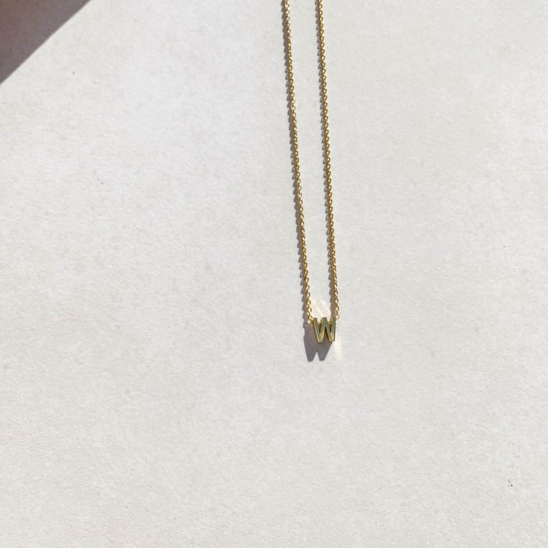 Letter Necklace - W