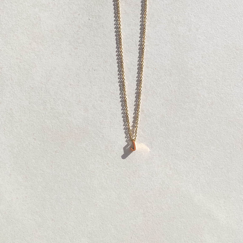 Letter Necklace - J