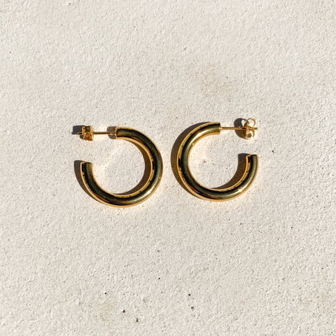 Mini Gold Tube Hoops