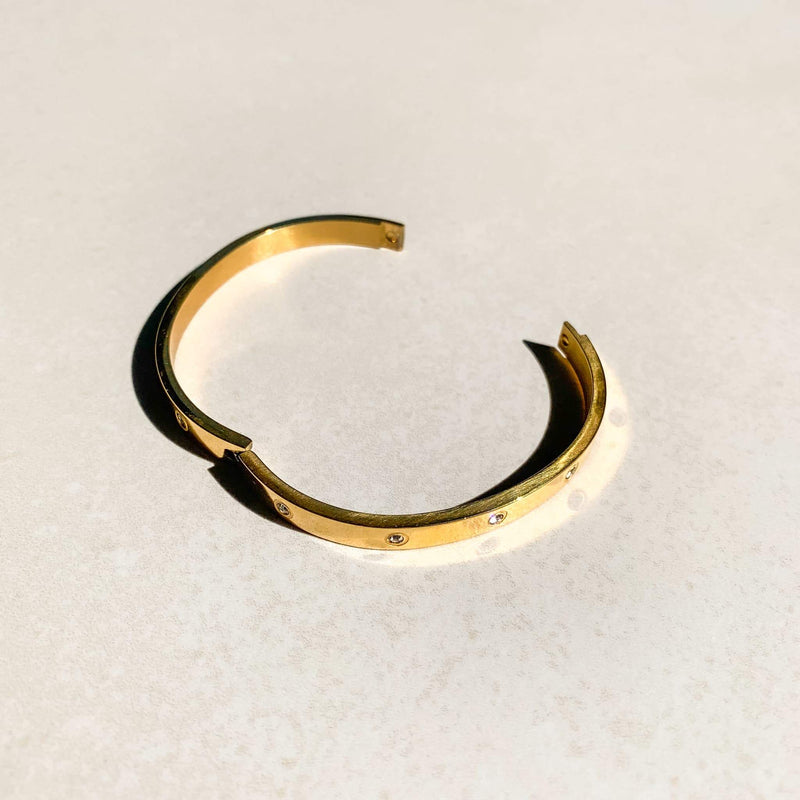 Gold Diamond Bangle