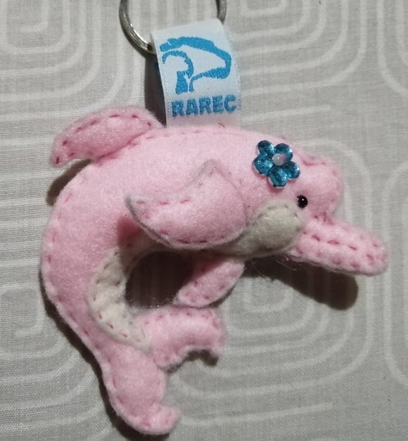 Pink dolphin keychains