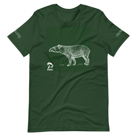 Love Tapirs Unisex Green T-Shirt
