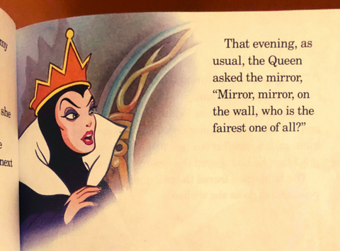 from the classic story, Snow White