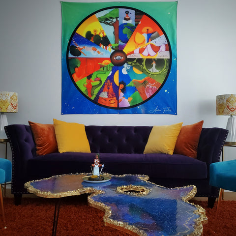 The Real Houses of Astrology Tapestry