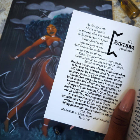 Perthro Rune from the Afro Goddess Rune Set