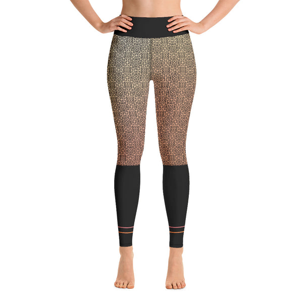 Afro Goddess Yoga Leggings BLUSH