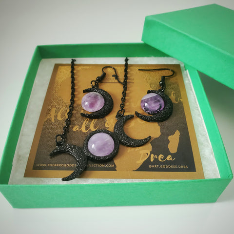 Amethyst Moon Goddess Set