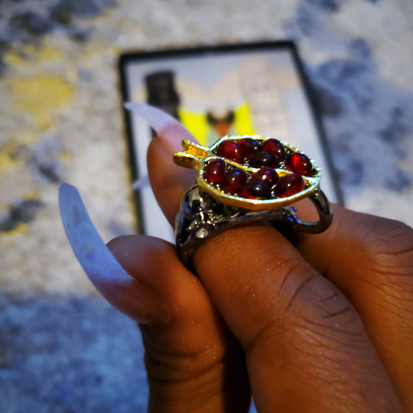 """Goddess of the Harvest"" Pomegranate Ring"