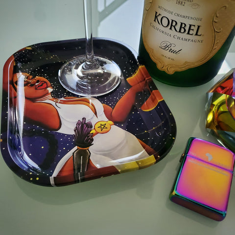 *NEW* Nova Goddess Metal Tray & Holographic Lighter Set