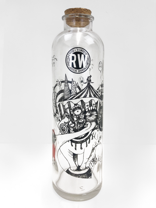 Circus Glass Wishing Bottle