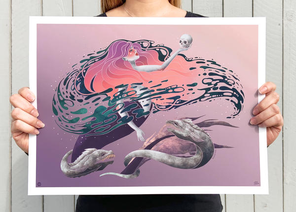 Wicked Mermaid Art Print
