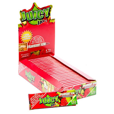 "Juicy-Jay's-1-1/4""-Size-Rolling-Paper-Strawberry-Kiwi-Flavor"