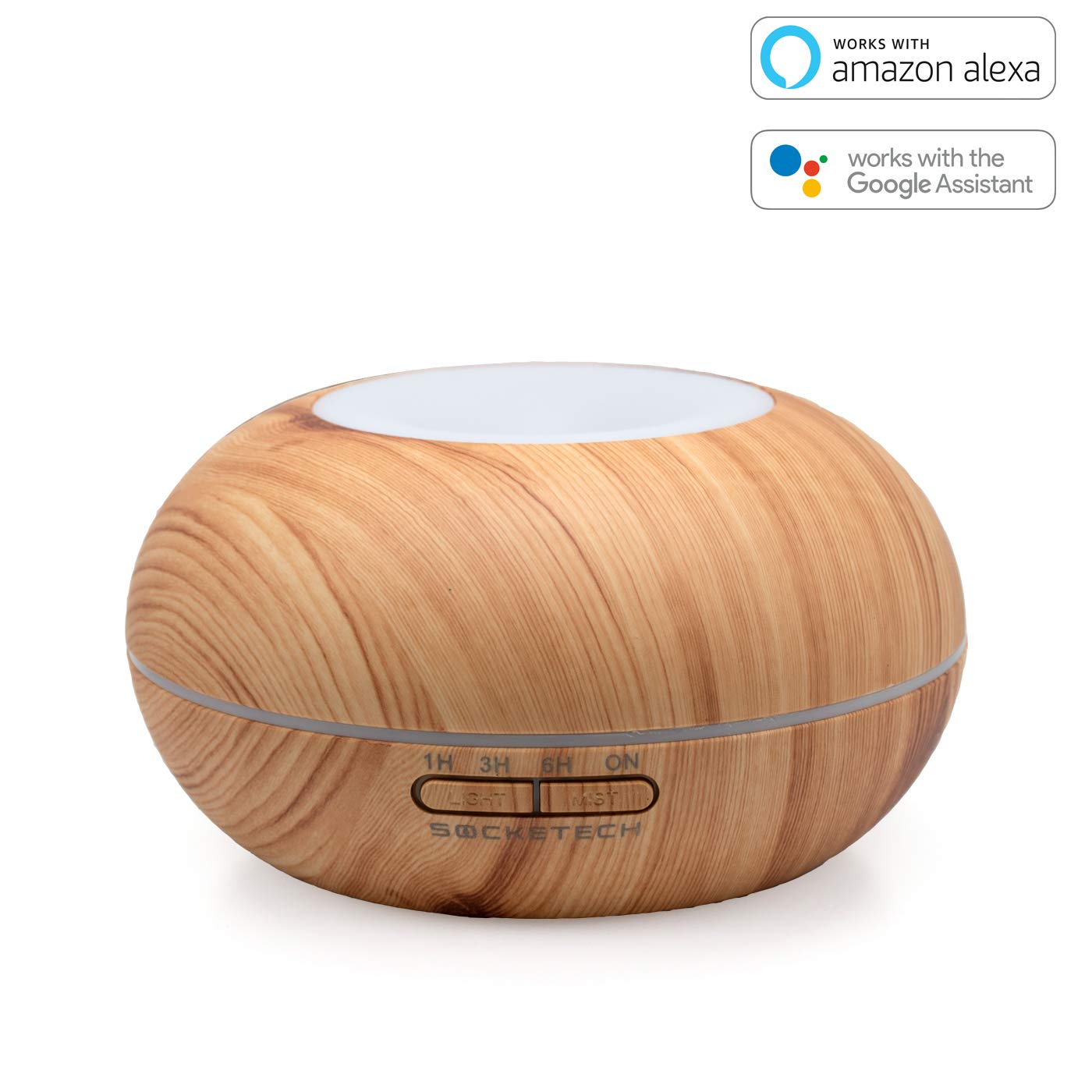 SOCKETECH ST18K 200ml Smart Wireless Essential Oil Aromatherapy Diffuser - Works with Alexa&Google Home