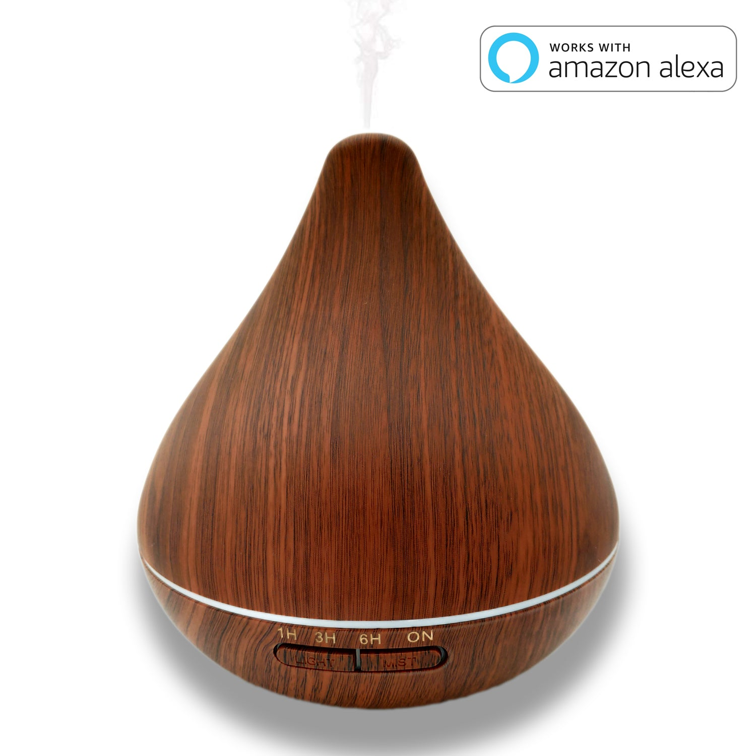 SockeTech Diffuser for Essential Oils Compatible with Alexa&Google Home,300ml Ultrasonic aromatherapy diffuser Essential Oil Diffuser humidifiers for bedroom,7 Color LED light - SockeTech
