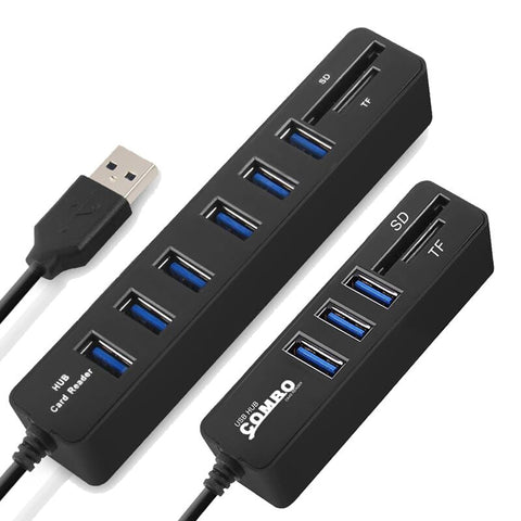 USB HUB 3.0 Multi USB Splitter 3.0 USB Hab SD TF Card Reader Multiple USB HUB for Computer Laptop
