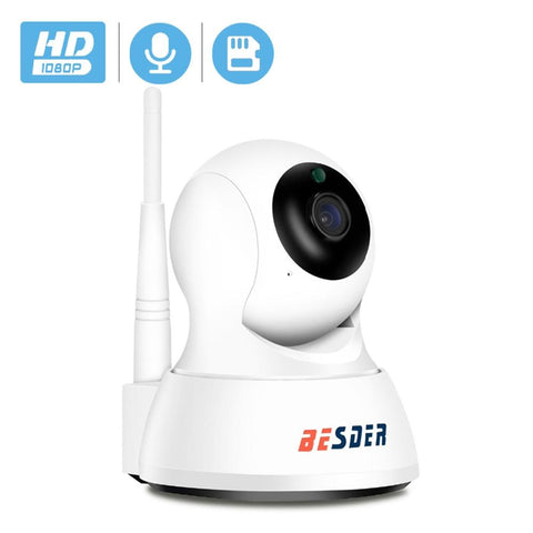 BESDER Home Smart Security IP Camera Wi-Fi 1080P P2P Two Way Audio Baby monitor Motion Alert Mini Pan Tilt CCTV Video IP Camera
