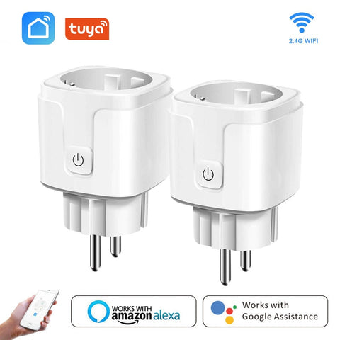 Smart WiFi Plug Adaptor 16A Remote Voice Control Power Monitor Socket Outlet Timing Function work with Alexa Google Home Tuya