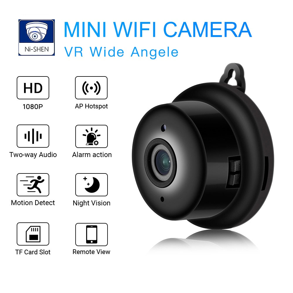Mini Wifi Camera Smart Auto IR-Cut Night Vision HD Video Motion Sensor Secret Micro Cam IP P2P Security Home Surveillance Webcam