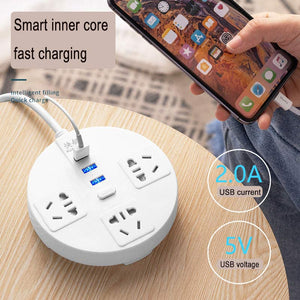 0.8-4.8m extension cord socket cable enchufe USB wall plug Smart socket strip Network filter Electrical outlets power strip