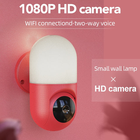 New Surveillance Camera 1080P HD WIFI PTZ Rotation Home Motion Detection Smart Alarm Camera Courtyard Lighting Wall Lamp Camera
