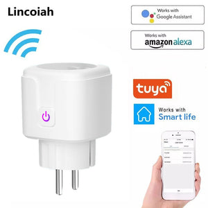 WiFi Smart Wireless Plug EU US UK Adaptor Remote Voice Control Power Energy Monitor Outlet Timer Socket for Alexa Google Home