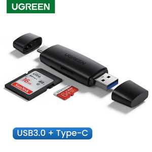 Ugreen USB Card Reader Type C USB 3.0 to SD Micro SD TF Adapter for laptop Phone OTG Cardreader Smart Memory SD Card Reader