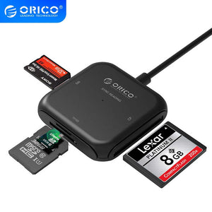ORICO 4 in 1 USB 3.0 Card Reader Flash Multi Memory Card Reader for TF SD MS CF for Laptop OTG to  Card Read USB 3.0