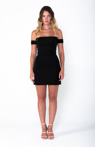 AMANDA Off The Shoulder A-Line Mini Dress - Grace The Label