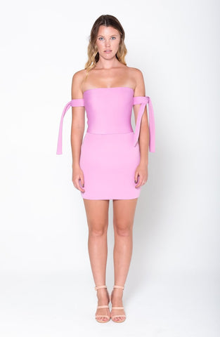 CARA Tie Mini Dress - Grace The Label
