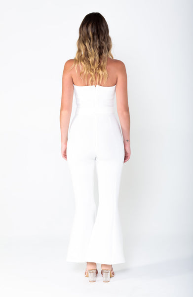 LAUREN Tie Flare Jumpsuit - Grace The Label