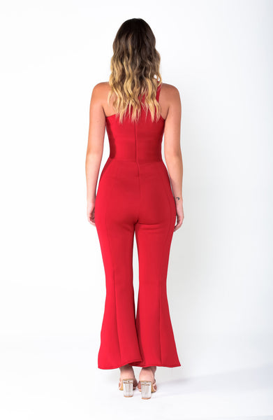 MICHELLE Asymmetric Flare Jumpsuit - Grace The Label