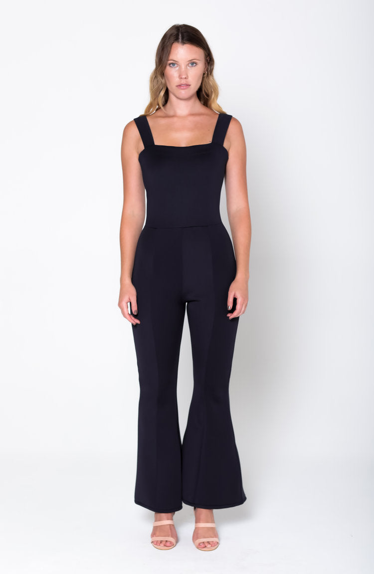 NORA Wide Strap Flare Jumpsuit - Grace The Label