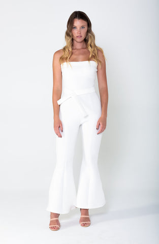 OPHELIA Belted Flare Jumpsuit - Grace The Label