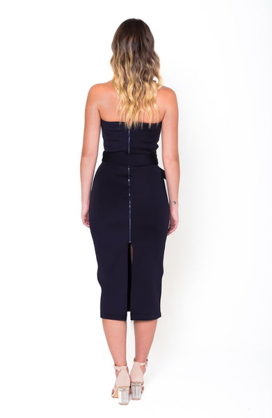 RENEE Belted Midi Dress - Grace The Label