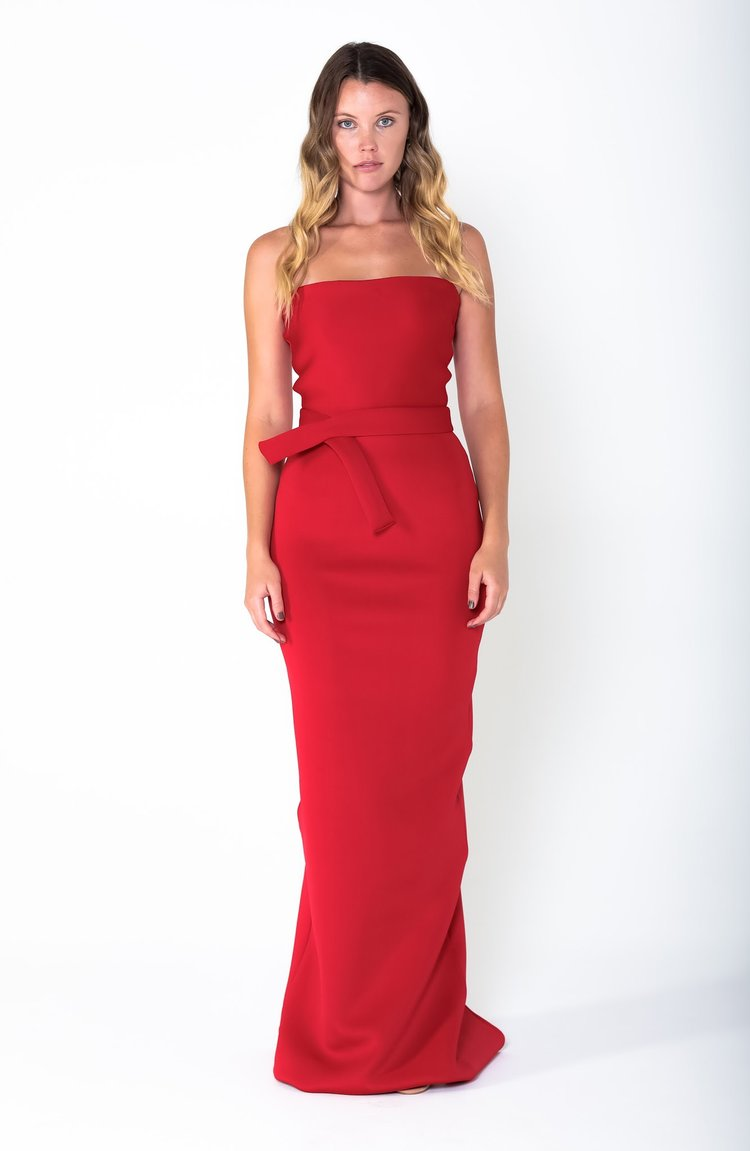 RITA Belted Gown - Grace The Label