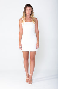 STEPHANIE Wide Strap A-Line Mini Dress - Grace The Label